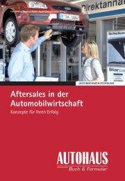 Aftersales in der Automobilwirtschaft - Springer Automotive Shop