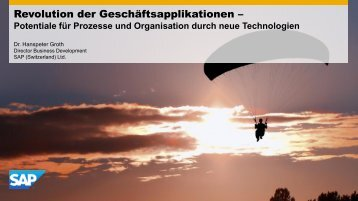 Potentiale für Prozesse und Organisation durch neue Technologien ...