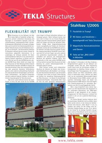 Tekla Structures News Stahlbau 1/2005