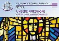 UNSERE FRIEDHÖFE - Evangelische Kirchengemeinde Spenge
