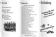 Der Ski-Club von 1950 bis 2003 - Skiverband Oberfranken
