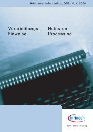 Verarbeitungs- hinweise Notes on Processing - Infineon