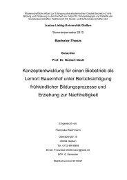 Konzeptentwicklung für einen Biobetrieb als Lernort Bauernhof ...