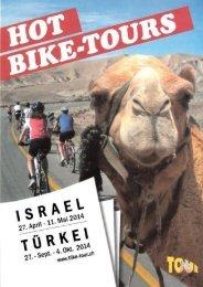 Flyer Israel/Tuerkei - Hot Bike Tours