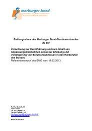 Stellungnahme des MB zum Verordnungsentwurf ... - Marburger Bund