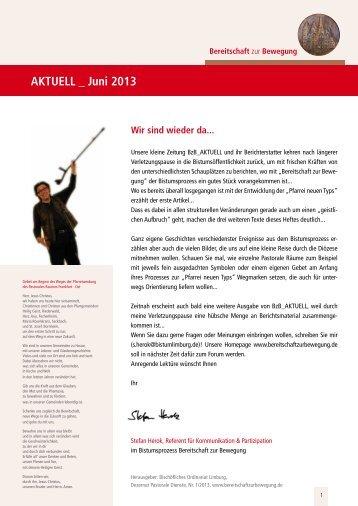 Hier finden Sie die neueste Ausgabe... - Bistum Limburg