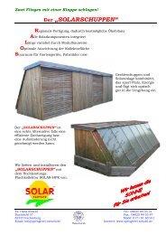 Solarschuppen - Solar-Partner Süd