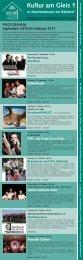 PROGRAMM September 2010 bis Februar 2011 - Kultur am Gleis 1