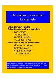 Schiedsamt der Stadt Lindenfels