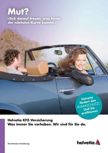 Folder - KFZ Versicherung - Helvetia