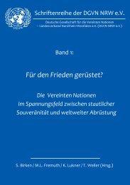 Tagungsband Finalversion - Deutsche Gesellschaft für die Vereinten ...