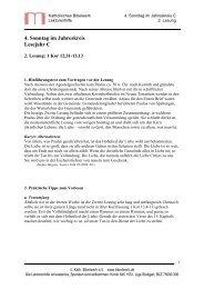 4. Sonntag im Jahreskreis Lesejahr C - Katholisches Bibelwerk
