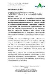 Industriepartnerschaft mit UHU Gmbh & Co. KG - AUTOMEISTER