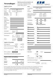 KBM Personalbogen als PDF-Datei - Zeitarbeit mal anders