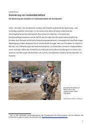 Ausgabe: 09/2009 - Evaluierung von Auslandseinsätzen - Reader ...