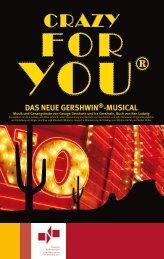 Programmheft - CRAZY FOR YOU - Theater Nordhausen