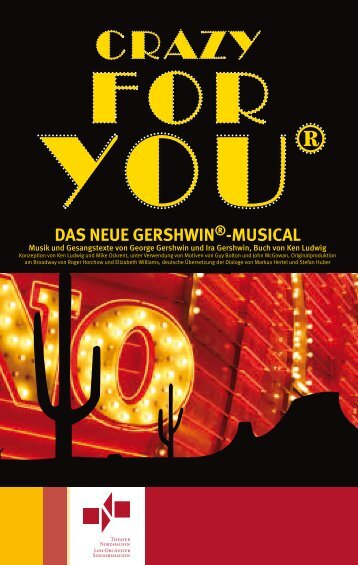 Programmheft - CRAZY FOR YOU - Theater Nordhausen