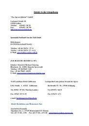 Anschriften von Hotels und Unterkünften der ... - STC MOTODROM