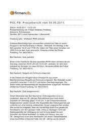 POL-FB: Pressebericht vom 04.05.2011: - Firmendb