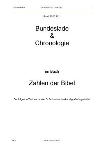 Bundeslade & Chronologie Zahlen der Bibel - Zeit und Zahl