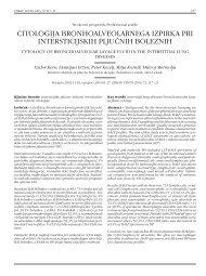 citologija bronhoalveolarnega izpirka pri intersticijskih pljučnih ...