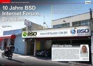 10 Jahre BSD Internet Forum, Brasilien