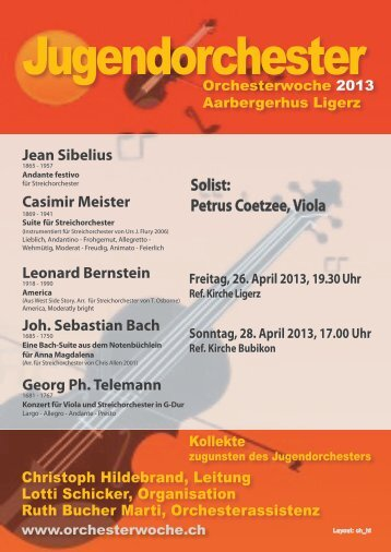 Programm 2013 - Orchesterwoche