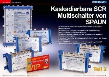 Kaskadierbare SCR Multischalter von SPAUN