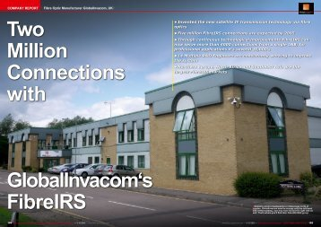 Two Million Connections with GlobalInvacom's FibreIRS