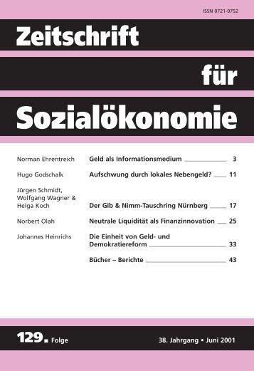 Neutrale Liquidität als Finanzinnovation - Zeitschrift für ...