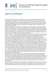 Jugend und Religion - Arbeitsgemeinschaft der Evangelischen ...