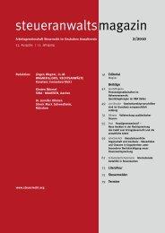 steueranwaltsmagazin 2 /2010 - Wagner-Joos Rechtsanwälte