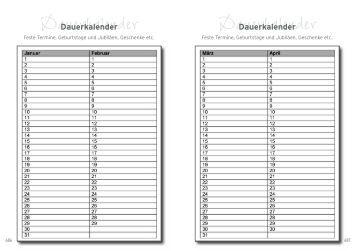 Dauerkalender Dauerkalender