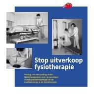 Stop uitverkoop fysiotherapie - Sp