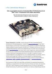 Voll ausgestattetes Kontron Embedded Mini-ITX Motherboard mit ...
