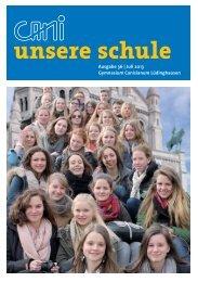 Jahrbuch 2013 - Förderverein des Canisianum - Gymnasium ...