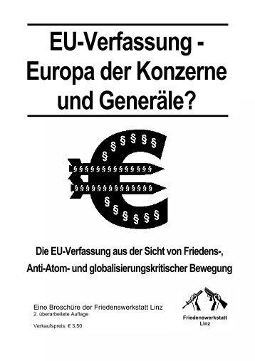 EU-Verfassung - Friedenswerkstatt Linz