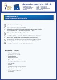 your copy of the Application Form. - German European School Manila