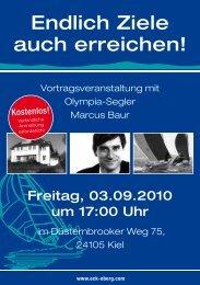 Event mit Profi-Segler Marcus Baur