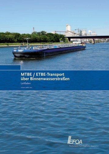 MTBE / ETBE-Transport über Binnenwasserstraßen