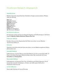 Grundwissen Biologie 8. Jahrgangsstufe - Schulen in Regensburg