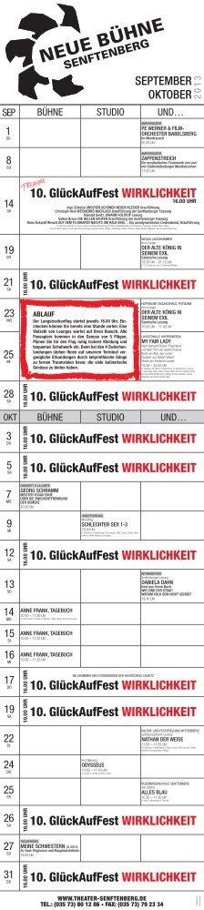Spielplan September als Download - Theater Senftenberg