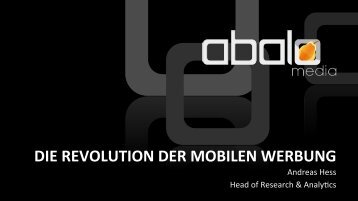 die revolution der mobilen werbung - Mobile Marketing Innovation Day