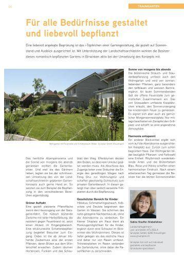 Für alle Bedürfnisse gestaltet und liebevoll bepflanzt - Grünplan GmbH
