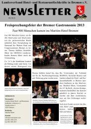 Freisprechungsfeier der Bremer Gastronomie 2013