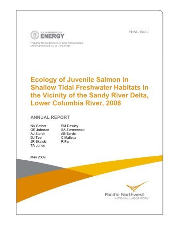 Ecology of Juvenile Salmon in Shallow Tidal Freshwater Habitats in ...