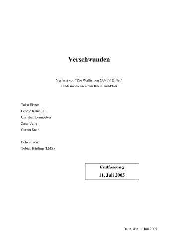 Drehbuch Fassung 11.07.2005