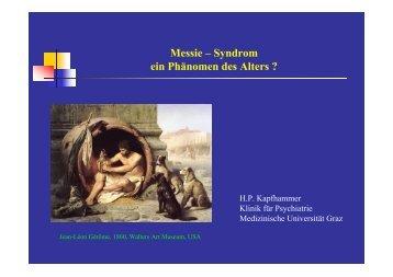 Messie – Syndrom - Medizinische Universität Graz