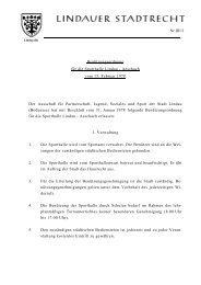 Nr.III/11 . Benützungsordnung für die Sporthalle Lindau - Aeschach ...