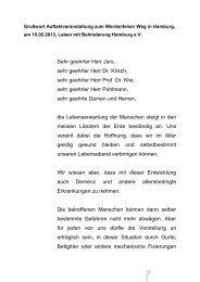Grußwort der Senatorin Cornelia Prüfer-Storcks - Leben mit ...